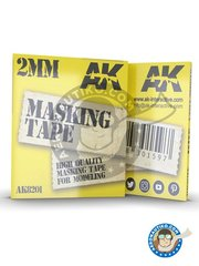 AK Interactive: Masks - Masking tape 2mm - paint masks - for all kits
