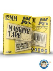 AK Interactive: Masks - Masking tape 12mm - paint masks - for all kits