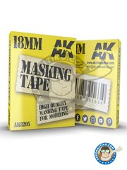 AK Interactive: Masks - Masking tape 18mm - paint masks - for all kits