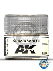 AK Interactive: Real color - Cream white. Ral 9001 - 10ml jar - for all kits