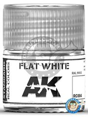 AK Interactive: Real color - Flat White RAL 9003. 10ml - for all kits