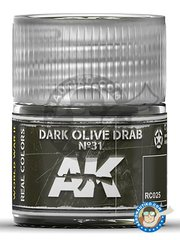 AK Interactive: Real color - Dark olive drab. US Army. 10ml - for all kits