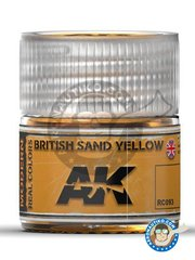 AK Interactive: Real color - British sand yellow - 10 ml  jar - for all kits