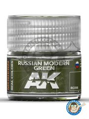 AK Interactive: Real color - Russian modern green - 10 ml jar - for all kits