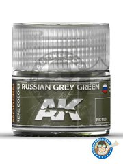 AK Interactive: Real color - Russian grey green - 10ml jar - for all kits