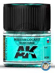 AK Interactive: Real color - Russian cockpit torquise - Jar 10ml - for all kits