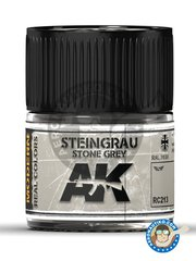 AK Interactive: Real color - Stone grey. RAL 7030. Steingrau - for all kits