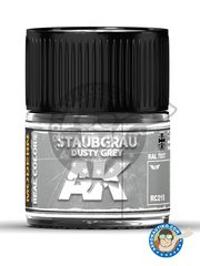 AK Interactive: Real color - Dusty grey. RAL 7037. Stubgrau. 10ml - for all kits