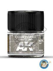 AK Interactive: Real color - Quartz Grey. Quarzgrau. Ral 7039. 10ml - for all kits