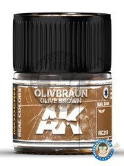 AK Interactive: Real color - Olive brown. Olivbraun. 10ml - for all kits