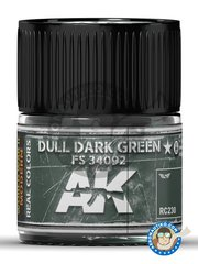 AK Interactive: Real color - Dull dark green FS 34092. 10ml - for all kits