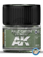 AK Interactive: Real color - Pale green FS 34227. 10ml - for all kits