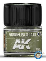 AK Interactive: Real color - Green FS 34258. 10ml - for all kits
