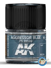 AK Interactive: Real color - Aggressor blue FS 35109. 10ml - for all kits