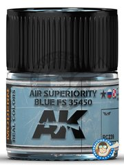 AK Interactive: Real color - Air Superiority Blue FS 35450 - 10ml jar - for all kits