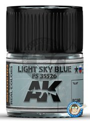 AK Interactive: Real color - Light Sky Blue FS 35526  - 10ml jar - for all kits