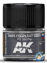 AK Interactive: Real color - Dark Eggplant Grey FS 36076 - 10ml jar - for all kits