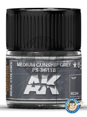 AK Interactive: Real color - Medium gunship grey FS 36118. 10ml - for all kits