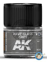AK Interactive: Real color - Have glass grey. 10ml - for all kits