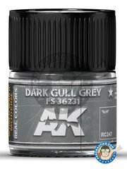 AK Interactive: Real color - Dark gull grey FS 36231. 10ml - for all kits