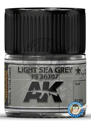 AK Interactive: Real color - Light Sea Grey FS 36307 - 10ml jar - for all kits