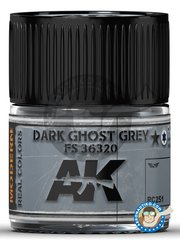 AK Interactive: Real color - Dark Ghost Grey FS 36320  - 10ml jar - for all kits