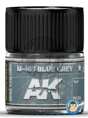 AK Interactive: Real color - M-485 Blue Grey - 10ml jar - for all kits