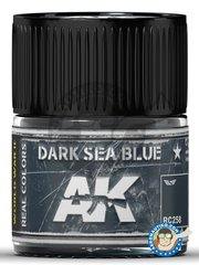 AK Interactive: Real color - Dark Sea Blue - 10ml jar - for all kits