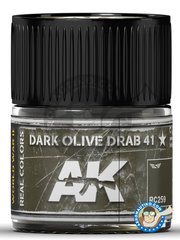 AK Interactive: Real color - Dark Olive Drab 41 - 10ml jar - for all kits