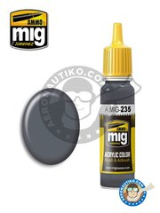 AMMO of Mig Jimenez: Acrylic paint - FS36152 Dark Grey AMT-12 | New 2018 - 17ml Jar - for all kits