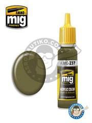 AMMO of Mig Jimenez: Acrylic paint - FS23070 Dark Olive Drab | New 2018 - 17ml Jar - for all kits