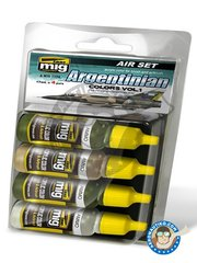 AMMO of Mig Jimenez: Paints set - Colors set of Argentinian. Vol.1. Also Falklands war - 17ml x 4 jars - for all kits