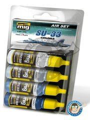AMMO of Mig Jimenez: Paints set - Colors set of Su-33 - 17ml x 4 jars - for all kits
