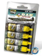 AMMO of Mig Jimenez: Paints set - Set color of WWII RAF early colors - 17ml x 4 jars - for all kits