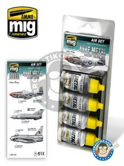 AMMO of Mig Jimenez: Paints set - Bare Metal Aircraft Colors | Air set  - for all kits