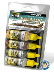 AMMO of Mig Jimenez: Paints set - Colors for middle east air forces - 17ml x 4 jars - for all kits
