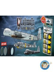 AMMO of Mig Jimenez: Paints set - Colors of Luftwaffe Mid-War and Nightfighter | Air set - 4 Jar. 17ml - for all kits