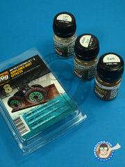 AMMO of Mig Jimenez: Paints set - Airplanes Dust Effects - Air Weathering set - A.MIG-3011, A.MIG-1403, A.MIG-3002 - for all kits
