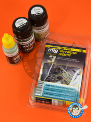 AMMO of Mig Jimenez: Paints set - WWII British cockpits | Color Set - 3 jars - for all kits.