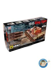AMMO of Mig Jimenez: Tank kit 1/35 scale - KING TIGER 2 in1 Panzerkampfwagen Tiger Ausf. B. Torre Henschel - photo-etched parts, plastic parts, water slide decals and assembly instructions