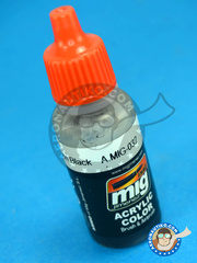 AMMO of Mig Jimenez: Acrylic paint - Satin Black - 17ml image