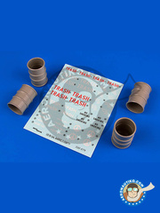 Aerobonus: Detail 1/32 scale - US 55 gallon barrels - resin, decals - 4 units image
