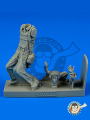 Aerobonus: Figure 1/32 scale - U.S. Marines Pilot - resin