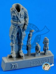 Aerobonus: Figure 1/48 scale - German Luftwaffe Pilot WWII - resin parts and assembly instructions - for all kits