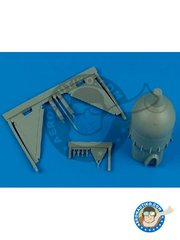 Aires: Bombs 1/72 scale - Mistel 2 conversion set version 2 - resin parts - for Hasegawa kits