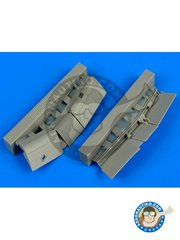 Aires: Flaps 1/72 scale - F4U-1 Corsair flaps - resin parts - for Tamiya kits