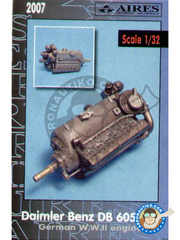 Aires: Engine 1/32 scale - Daimler Benz DB 605A/B engine - resin parts - for all kits