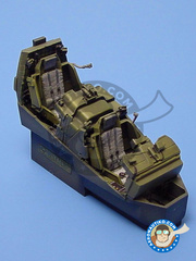 Aires: Cockpit set 1/48 scale - Boeing AH-64 Apache D Longbow - resins, photo-etch image