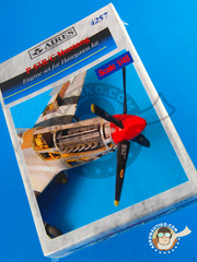 Aires: Engine 1/48 scale - North American P-51 Mustang B/C - resin parts - for Hasegawa kits