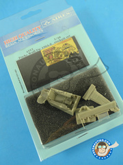 Aires: Cockpit set 1/48 scale - Focke-Wulf Fw 190 Würger A-8 - photo-etched parts and resin parts - for Eduard kit